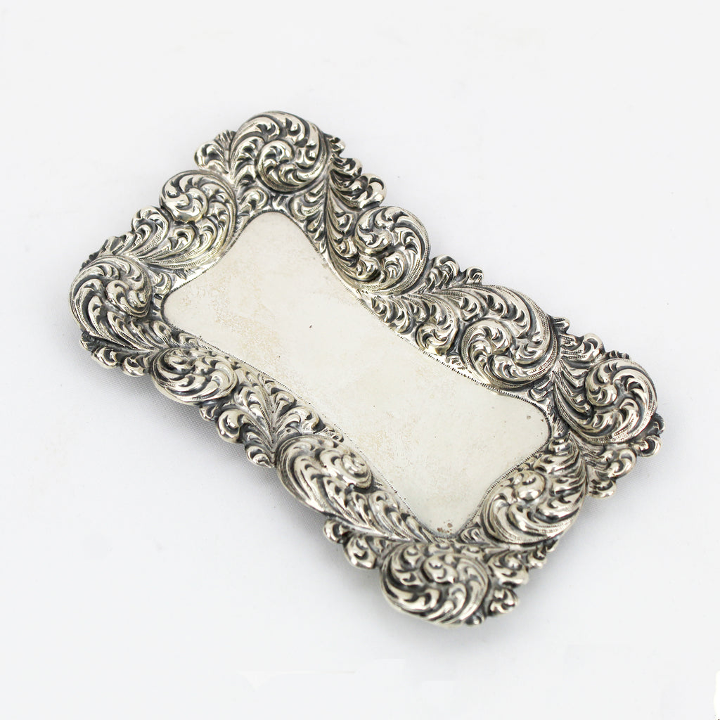 Estate Collection Sterling - Tray Small Rectangular w/Repousse Border