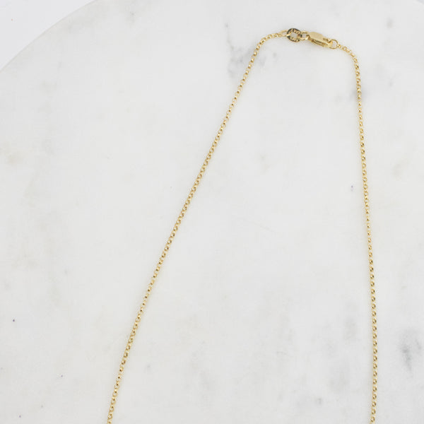 Estate Collection Necklace 14K Yellow Gold Rolo Chain