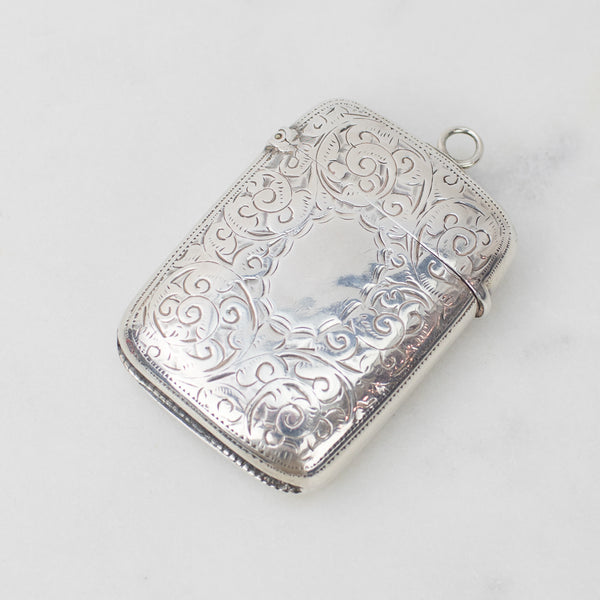 Estate Collection - Sterling Match Locket w/Scroll Design