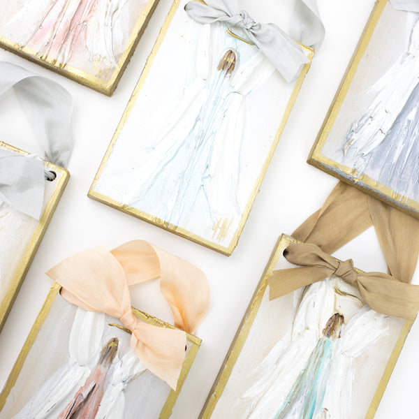 Debra Hewitt Designs - Angel Hangers w/Silk Ribbon