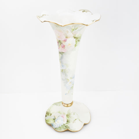 Estate Collection Vintage American Belleek Trumpet Vase