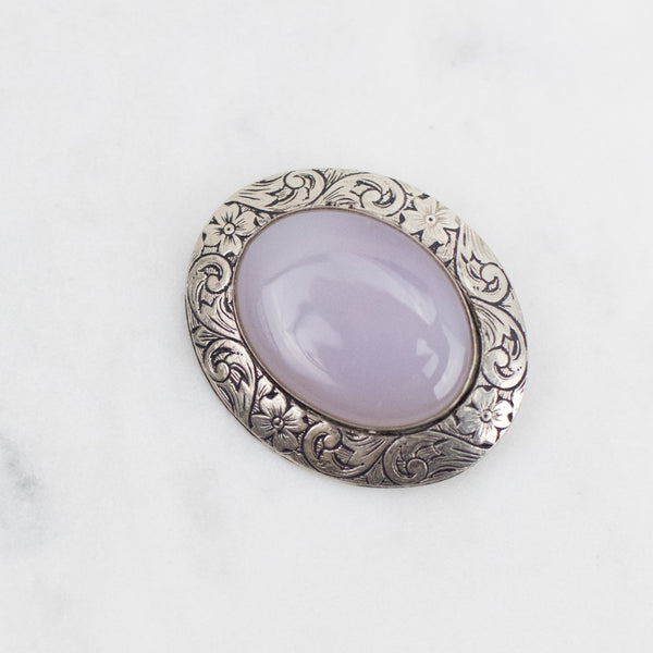 Estate Collection Brooch - Vintage Chalcedony Stone