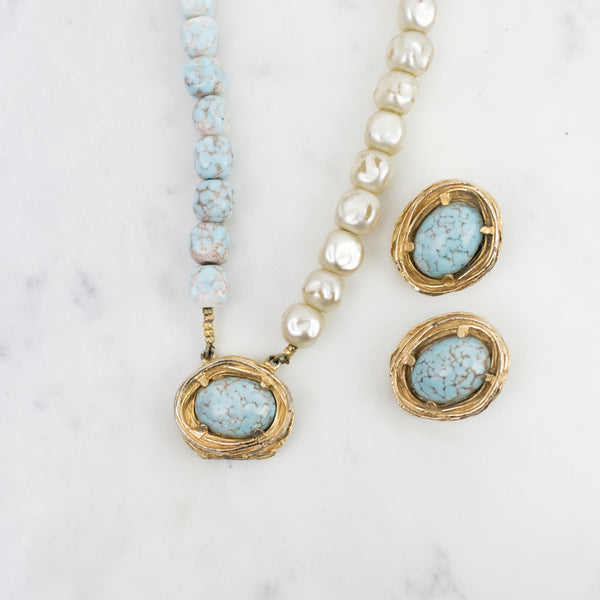 Estate Collection Necklace & Earring Set