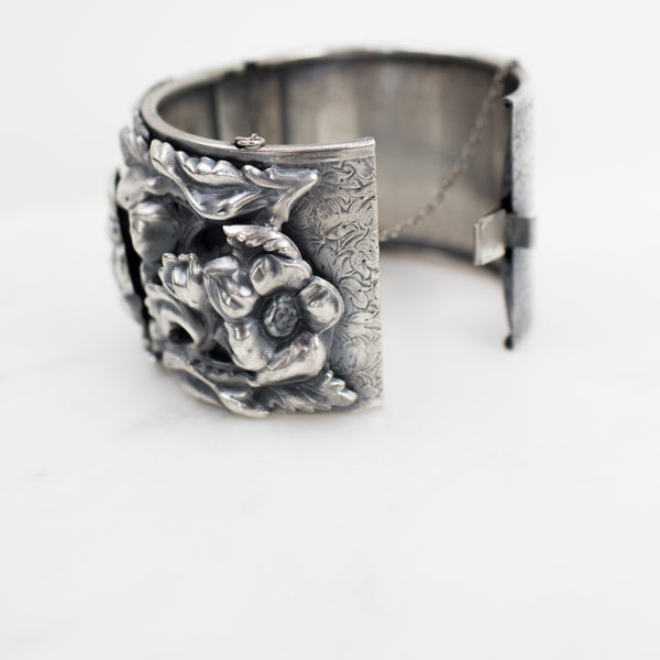 Estate Collection Bracelet - Repousse & Engraved Foliate Pattern