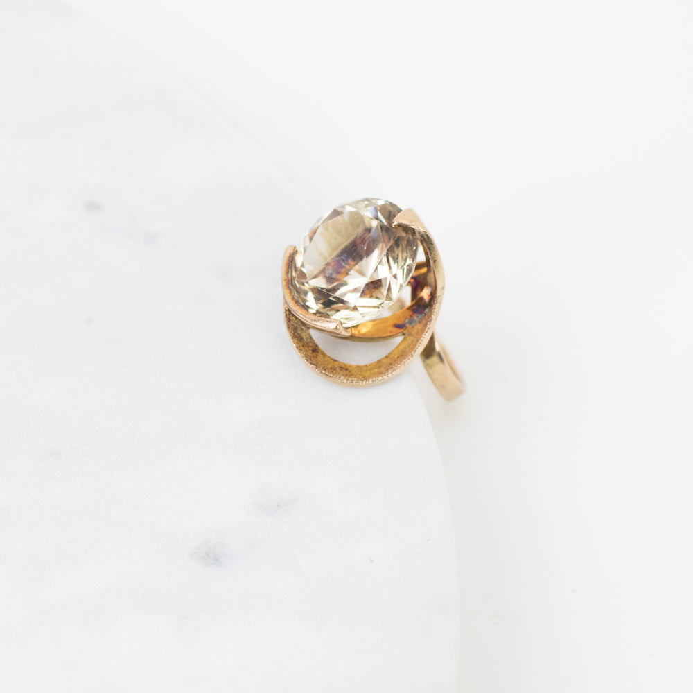 Estate Collection Ring- Vintage Art Deco Smoky Quartz Ring