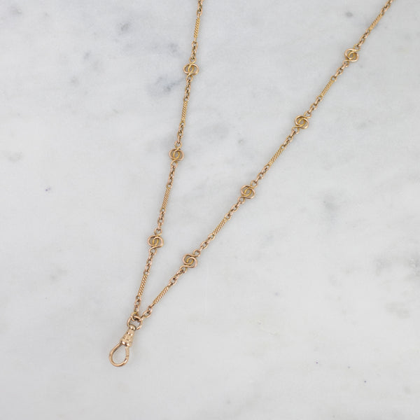 Estate Collection - Vintage 14K Yellow Gold Watch Chain