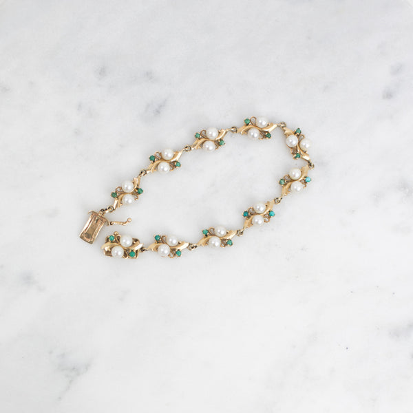Estate Collection Bracelet - Cultured Pearl & Turquoise