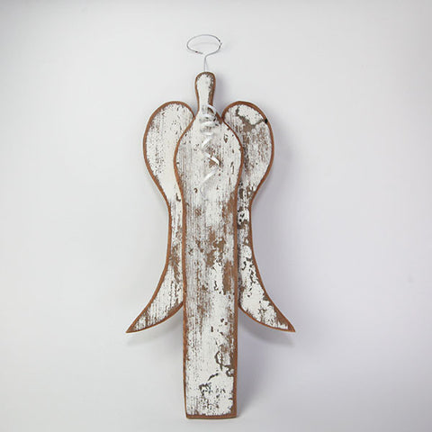 Barn Wood Angel with Bouquet