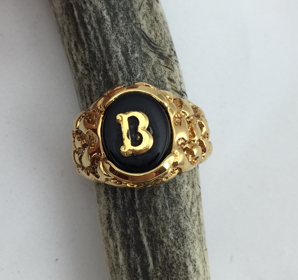 Estate Collection 14K Yellow Gold/Black Onyx Signet Ring Appraised at $1250