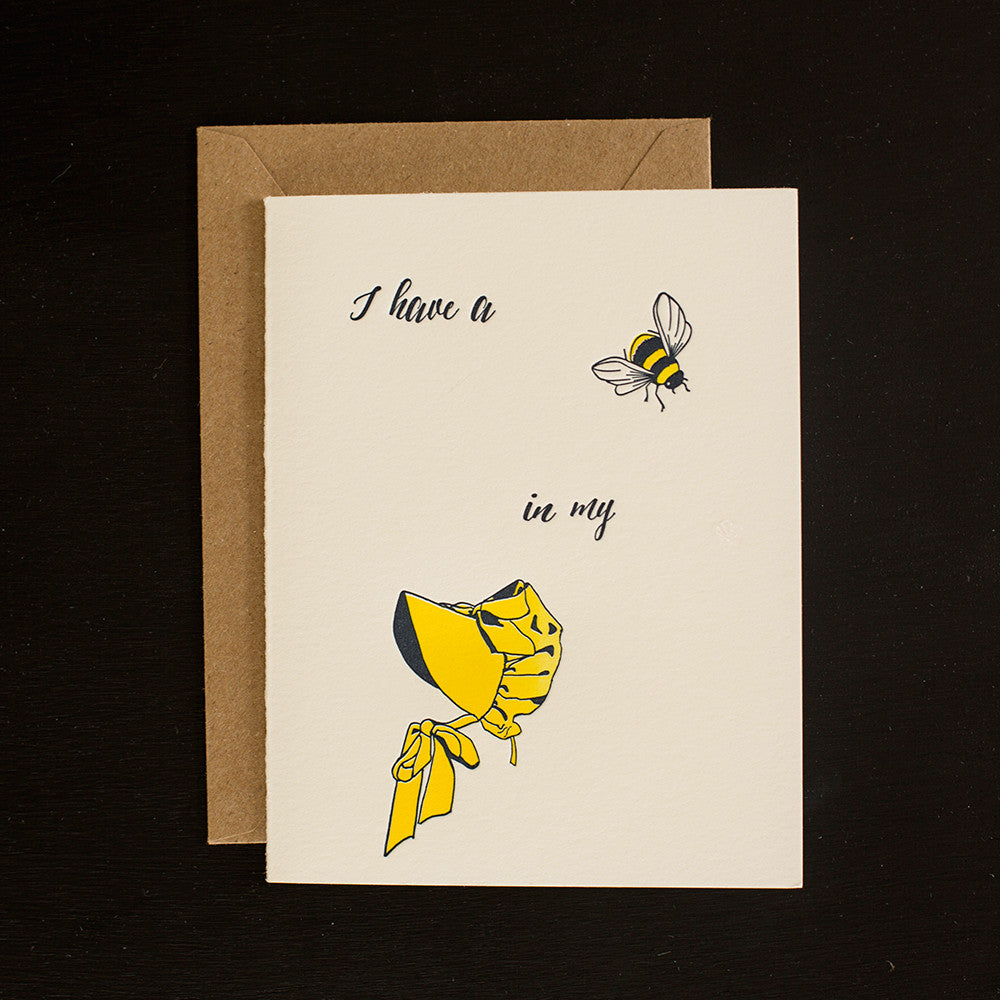 Greeting Cards - I've Got a Bee In My Bonnet
