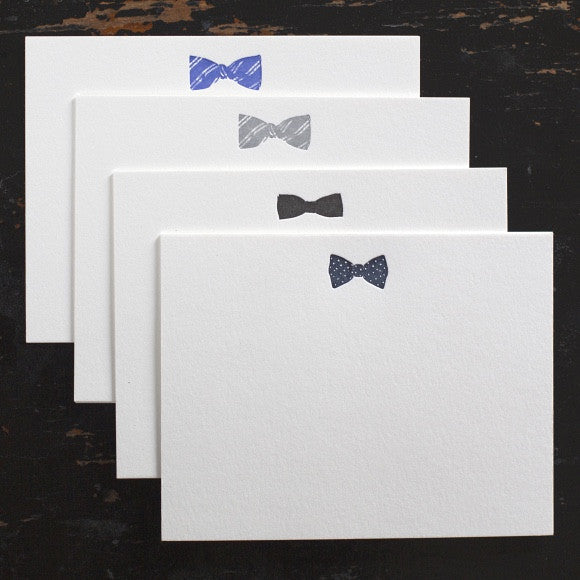 Bow Tie Note Cards - Assorted Box of 8