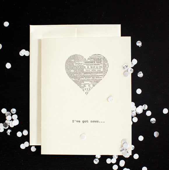 Greeting Cards - I've Got News: Spread the News with News Confetti
