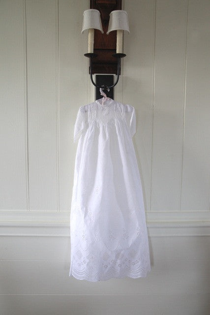 Estate Collection Christening Gown - Antique with Stunning Cut Work