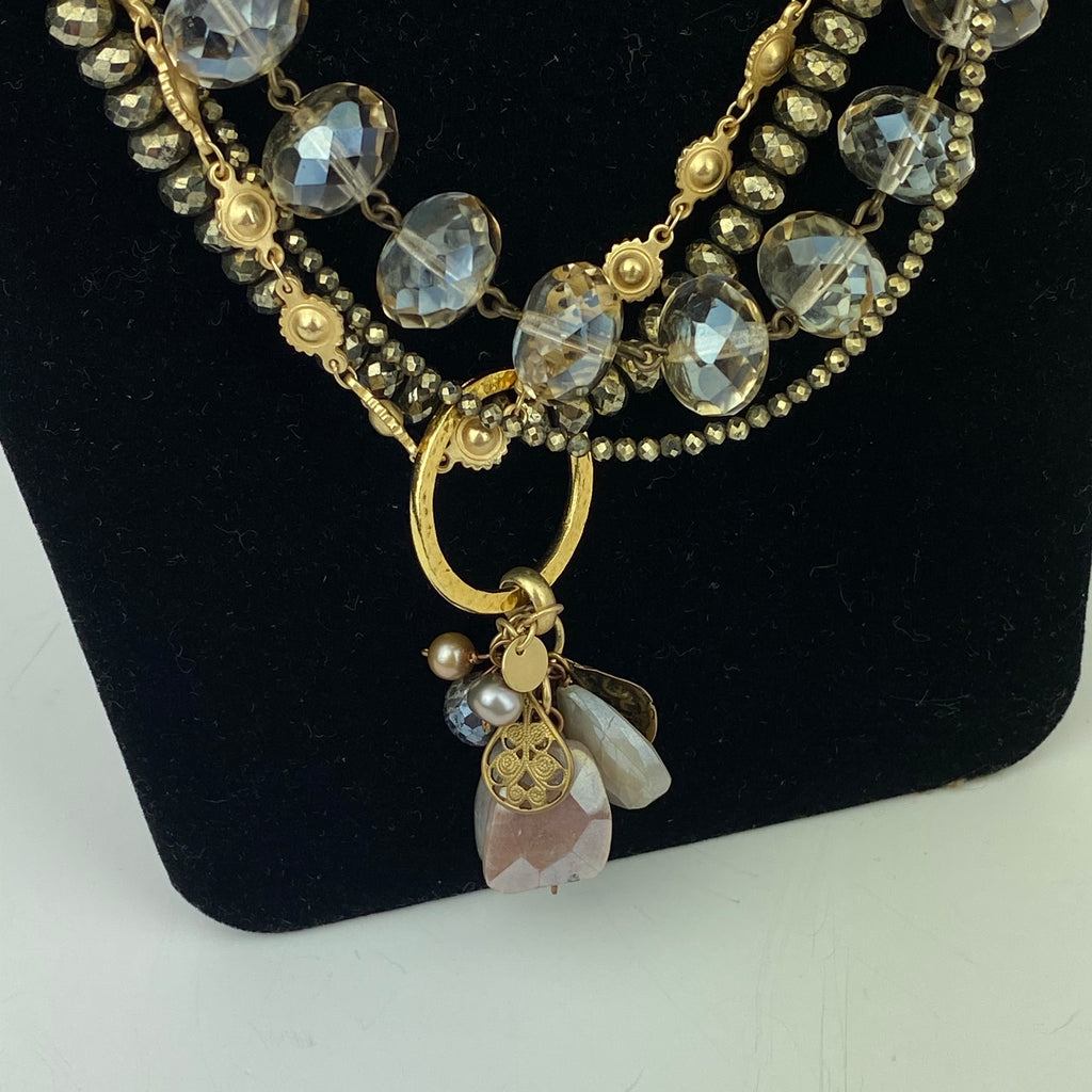Pyrite & Citrine Flaneur Necklace