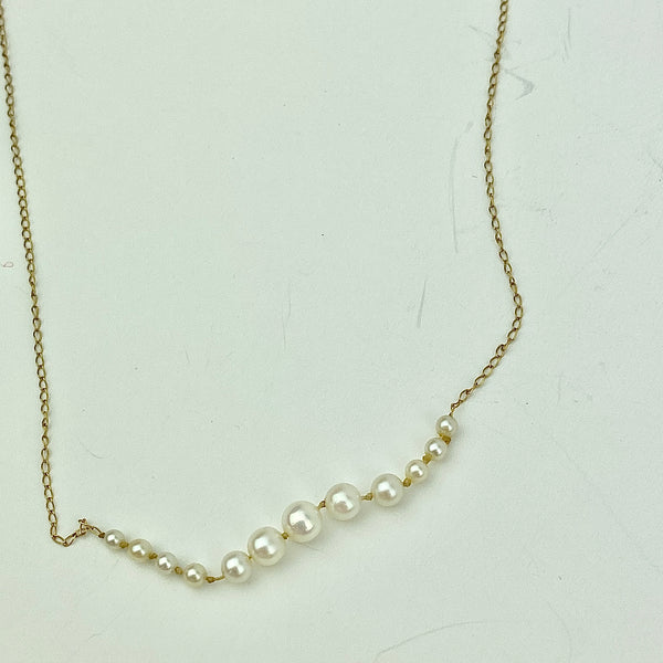 Estate Collection - Necklace Graduated Cultured Pearls