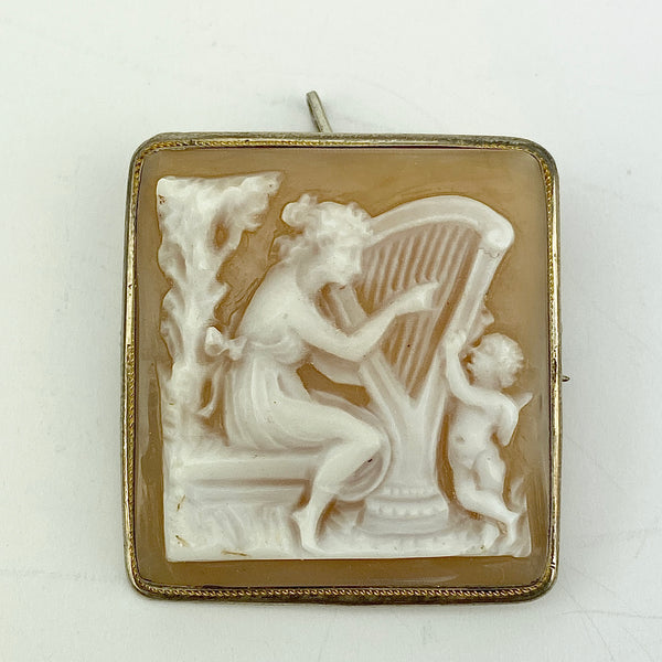 Estate Collection - Brooches Cameo Vintage 800 Silver