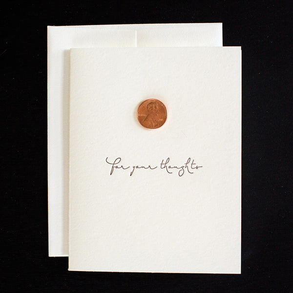 Greeting Cards - Penny For Your Thoughts