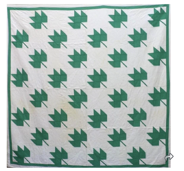 Estate Collection - Leaf Pattern Quilt