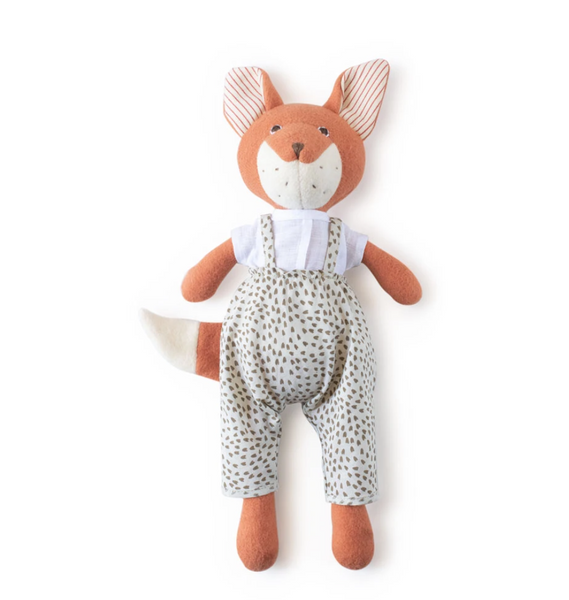 Animal - Flora Fox in Windy Seeds Overalls & Linen Shirt