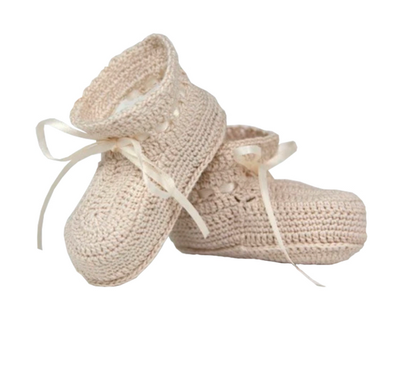 "Booties ""So Dear"" Hand-Crocheted"