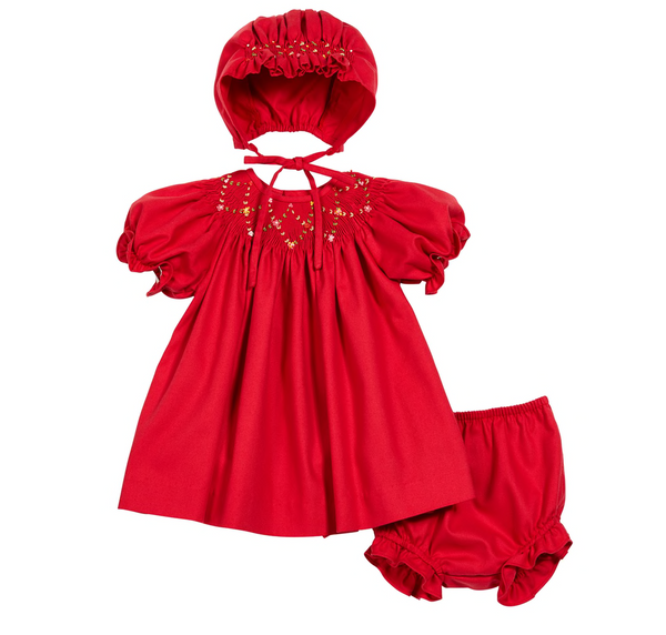 Viella Smocked Bishop in Red