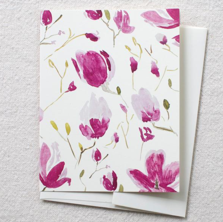 Greeeting Card - Magnolia Branches - Blank