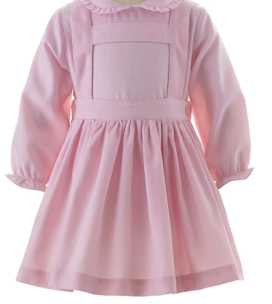 Babycord Skirt Set - Pink/Ivory