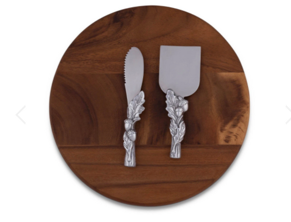 Acorn Oak Leaf Cheese Tool Set