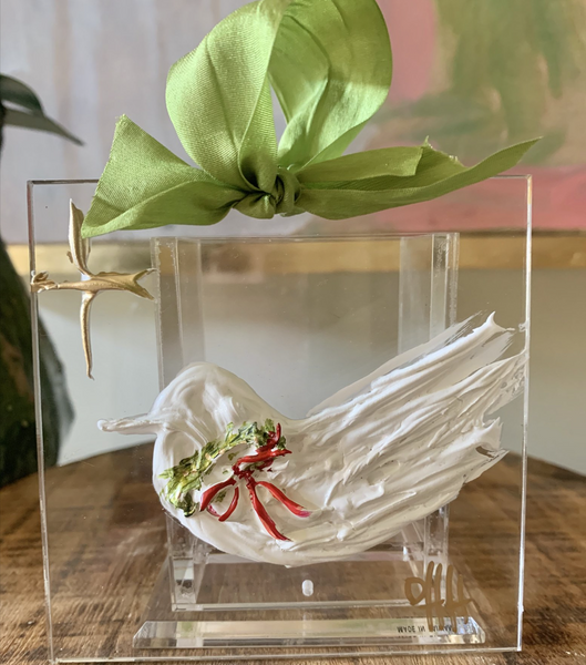 Debra Hewitt Designs - Christmas Dove Acrylic Ornament