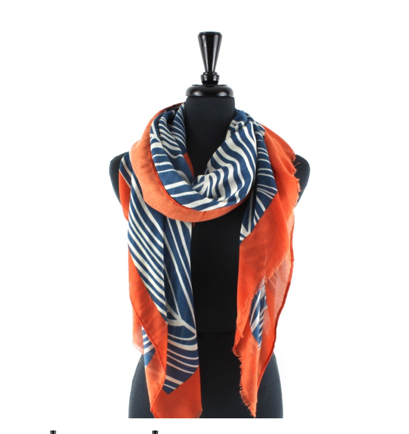Striped Branches Scarf