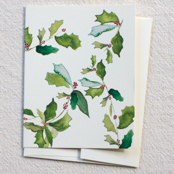 Greeting Card - Holly