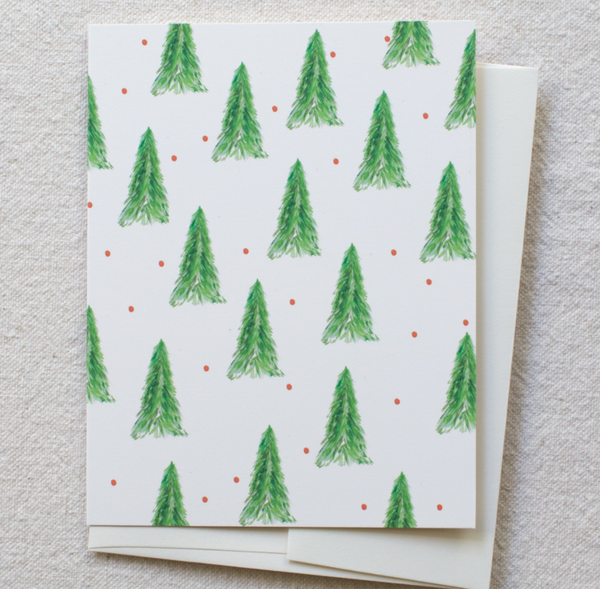 Greeting Card - Holiday Tree Pattern