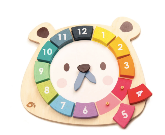 Bear Colors Clock