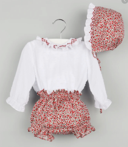 Plumetti & Floral Red 3pc Set