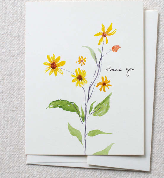Greeting Card - Brown Eyed Susan - Thank you