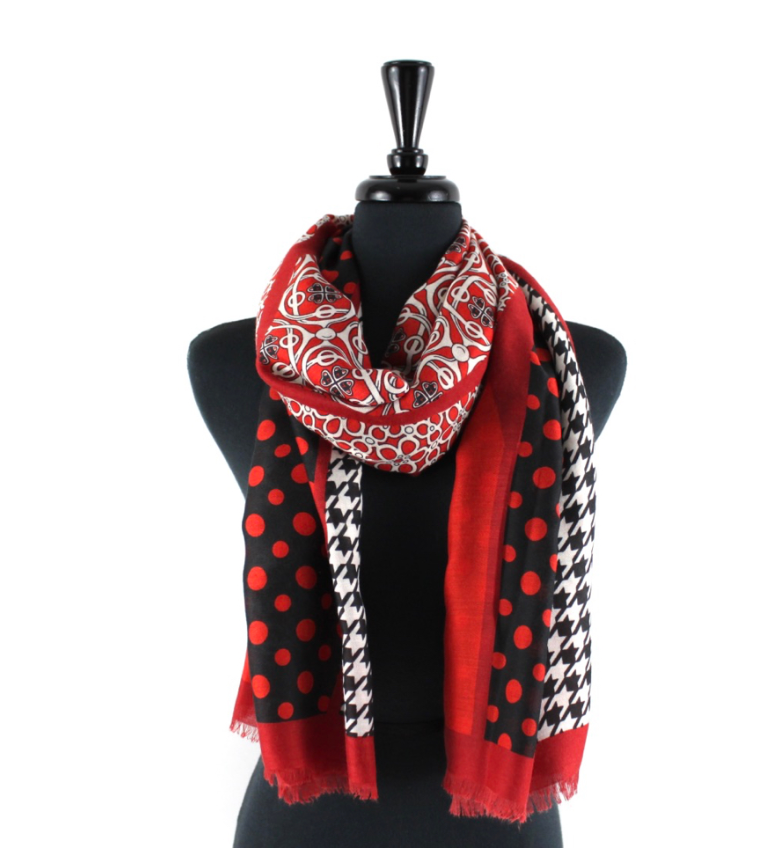 Beautiful In Red Scarf