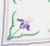 "Estate Collection Quilt - Handcrafted Embroidered Cross-Stitch ""Iris"" Quilt"