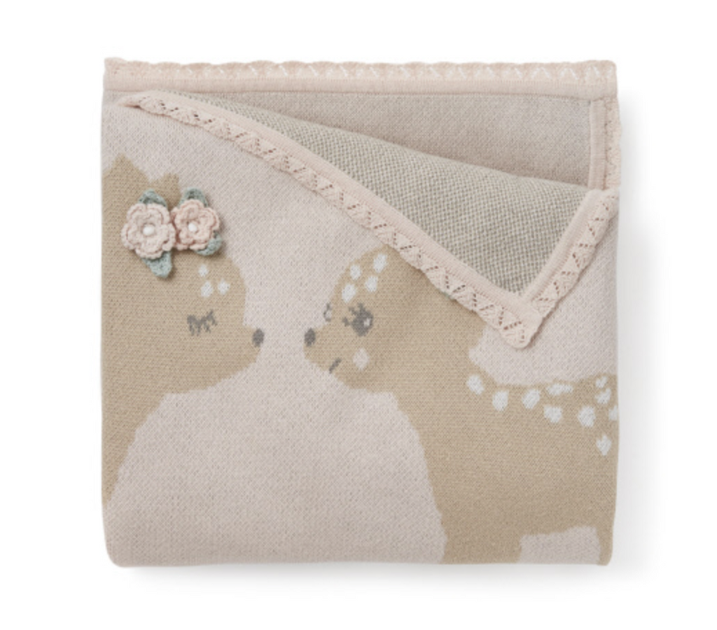 Blanket - Blush Pink with Fawn