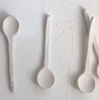 Handmade Spoons in Blanc by Civil Stoneware