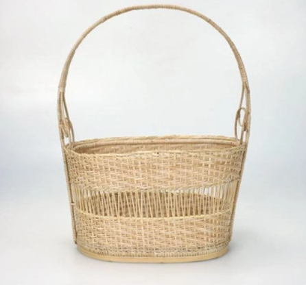 Bamboo Easter Basket with Handle