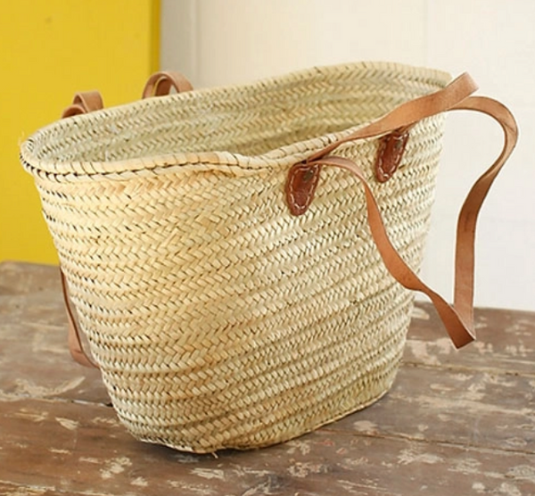 Hand Woven French Market Basket