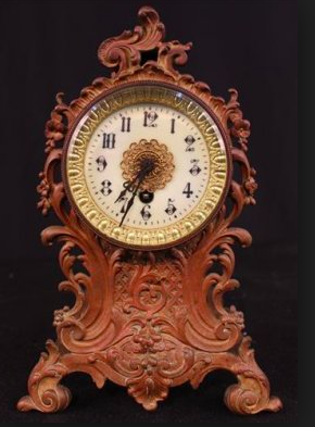 Estate Collection Clock - Early French Metal Clock