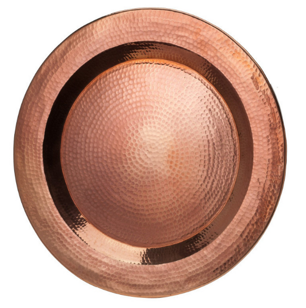 "Platter Hand Hammered Copper 18"" Diameter"