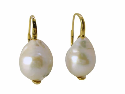French Wire Vermeil Earrings w/Fresh Water Pearls