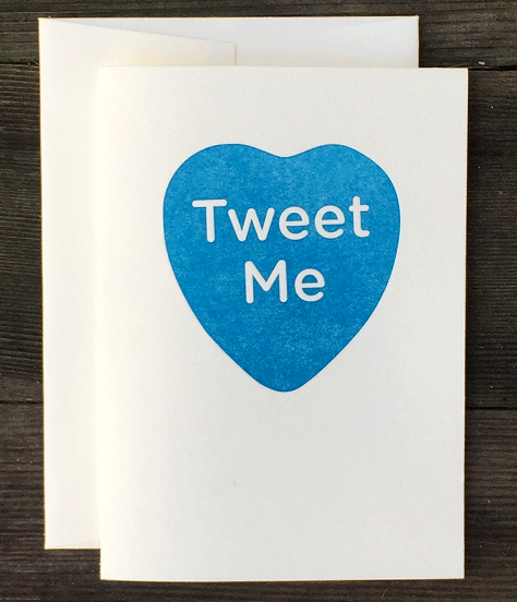 Greeting Card - Tweet Me