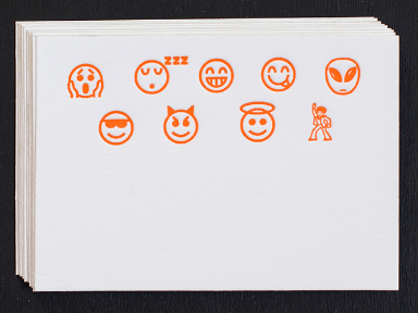 Enclosure Cards - Emoji Petite Cards