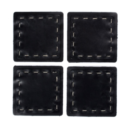Coasters - Set Hand Sewn Leather
