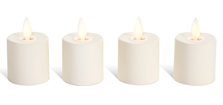 "Candles Faux - Rechargeable Tea Lights 1.5"" Diameter"