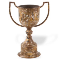 Vase - Rustic Tin Trophy