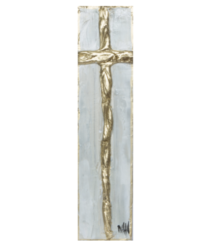 Debra Hewitt Designs Cross Gold Leaf Medium